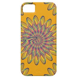 Rainbow Spiral Flower Design - Orange Background iPhone 5 Case