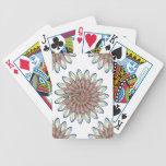 Rainbow Spiral Flower Design - White Background Card Decks