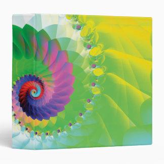 Rainbow Spiral Fractal 3 Ring Binder