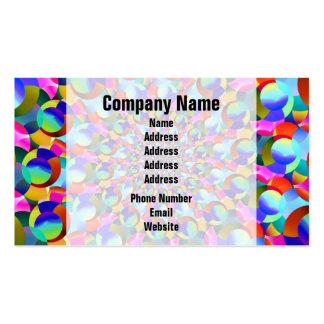Rainbow Spiral Fractal Art Business Card
