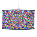 Rainbow Spiral Fractal Art Hanging Pendant Lamps