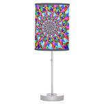 Rainbow Spiral Fractal Art Lamp