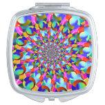 Rainbow Spiral Fractal Art Mirror For Makeup