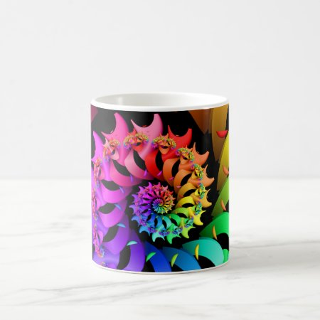 Rainbow Spiral Fractal Coffee Mug