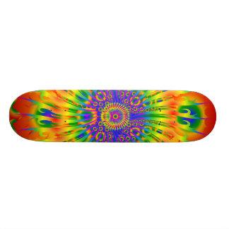 Rainbow Spiral / Fractal Design: Custom Skateboard