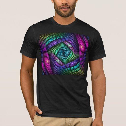 Rainbow Spiral Fractal Texture T-Shirt