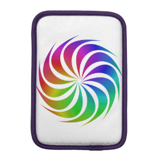 Rainbow spiral iPad mini sleeve