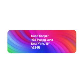 Rainbow Spiral Return Address Label