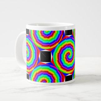Rainbow Spiral Large Coffee Mug
