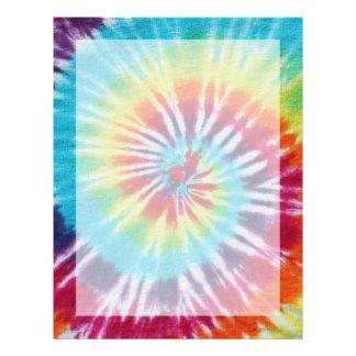 Rainbow Spiral Letterhead Design