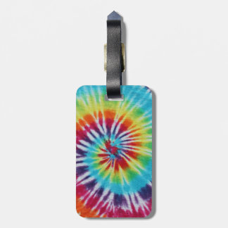 Rainbow Spiral Travel Bag Tags