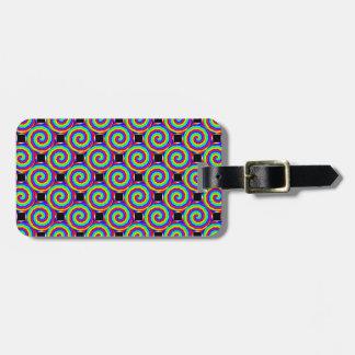 Rainbow Spiral Luggage Tag