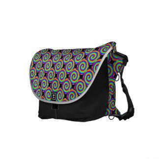Rainbow Spiral Messenger Bag