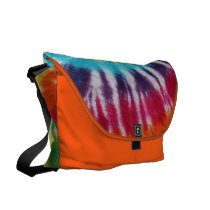 Rainbow Spiral Messenger Bag