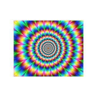 Rainbow Spiral Optical Illusion Gallery Wrap Canvas