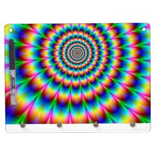 Rainbow Spiral Optical Illusion Dry Erase Whiteboards