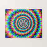 """Rainbow Spiral Optical Illusion Jigsaw Puzzle<br><div class=""""desc"""">Rainbow Spiral Optical Illusion. Slight resemblance to peacock feathers.</div>"""