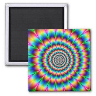 Rainbow Spiral Optical Illusion Magnet