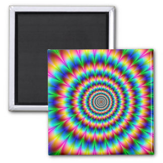 Rainbow Spiral Optical Illusion Magnet