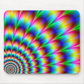 Rainbow Spiral Optical Illusion Mouse Pad