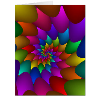 Rainbow Spiral Orbs Big Greeting Card