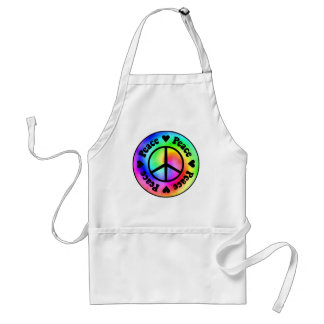 Rainbow Spiral Peace & Love Apron
