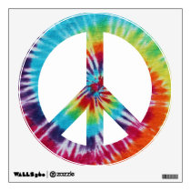 Rainbow Spiral Peace Sign Wall Sticker