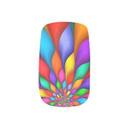 Rainbow Spiral Petals Flower Minx Nails Minx Nail Wraps