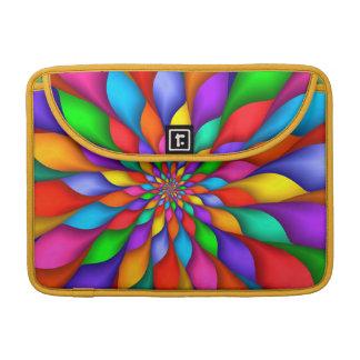 """Rainbow Spiral Petals FlowerMacbook Pro 13"""" Sleeve MacBook Pro Sleeve"""