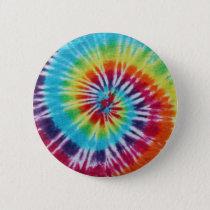 Rainbow Spiral Pinback Button
