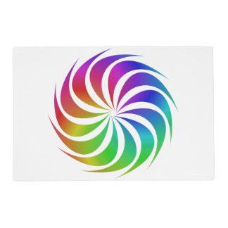 Rainbow spiral placemat