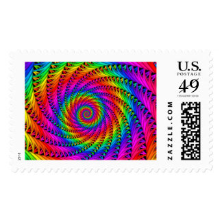 Rainbow Spiral Postage Stamps