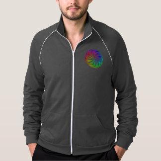 Rainbow spiral printed jacket