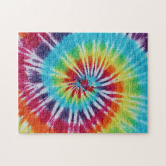 Rainbow Spiral Jigsaw Puzzles