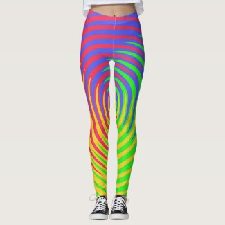 Rainbow Spiral Red Yellow Green Blue Leggings