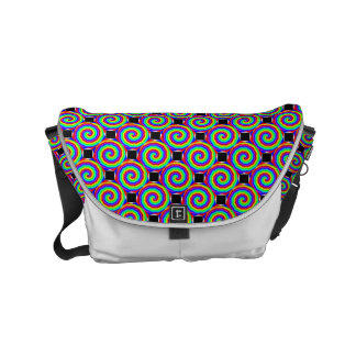 Rainbow Spiral Small Messenger Bag