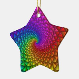 Rainbow Spiral Spikes Ornament