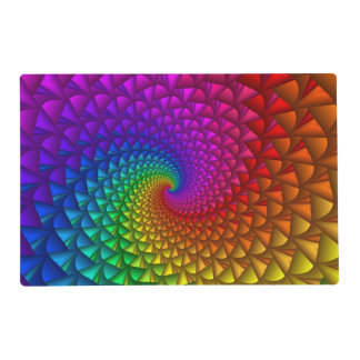 Rainbow Spiral Spikes Placemat