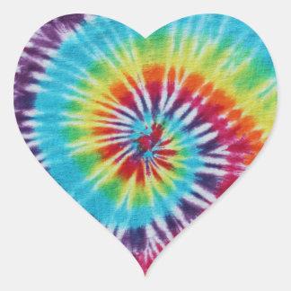 Rainbow Spiral Heart Stickers