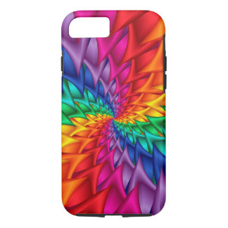 Rainbow Spiral Thorns iPhone 7 Case