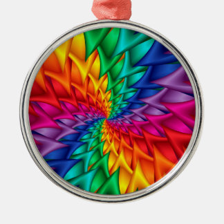 Rainbow Spiral Thorns Ornament