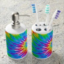 Rainbow Spiral Tie Dye Bath Set