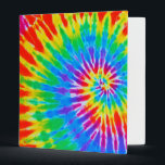 """Rainbow Spiral Tie Dye Binder<br><div class=""""desc"""">This colorful and fun Sixties retro-style binder will keep your papers organized and groovy.</div>"""
