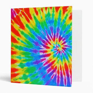 Rainbow Spiral Tie Dye Binder
