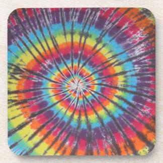 Rainbow Spiral Tie Dye Coasters