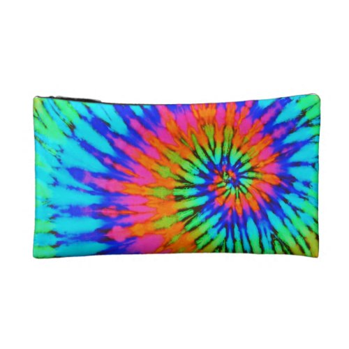 Rainbow Spiral Tie Dye Cosmetic Bag