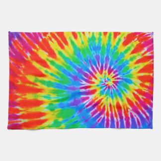 Rainbow Spiral Tie Dye Kitchen Towel
