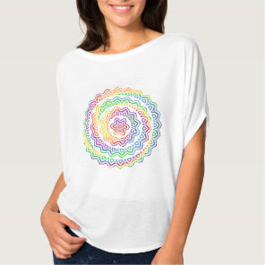 Rainbow Spiral Triangle Mandala Graphic T-Shirt