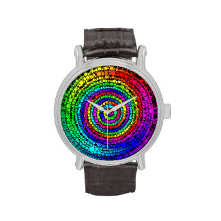Rainbow Spiral Wristwatch