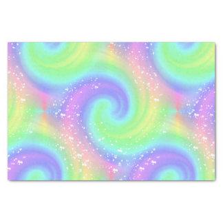 """Rainbow Spiral Wave Spattered Tissue Paper 10"""" X 15"""" Tissue Paper"""